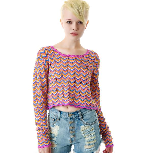 Mink Pink Tomorrow Land Crop Jumper