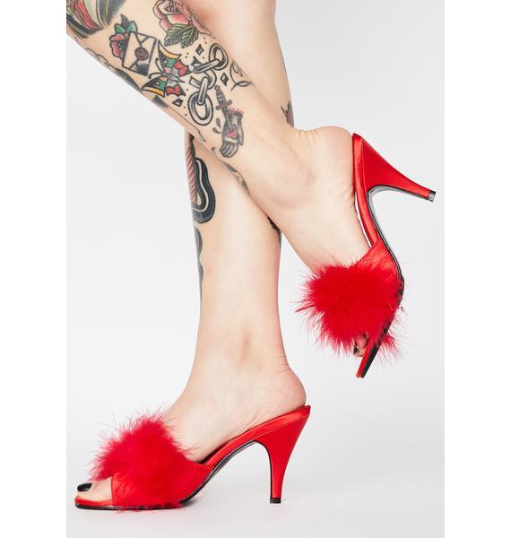 Fabulicious Hot Posh Princess Fluffy Heels