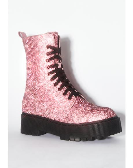 Pink Diamond Duchess Bling Boots