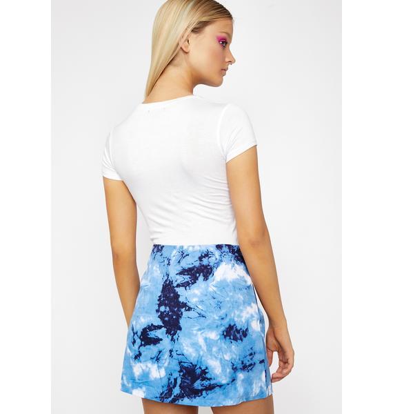 Royal Pressure Point Tie Dye Skirt