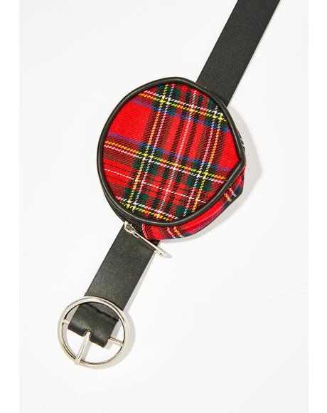 Plaid Electric Harmony Belt Bag