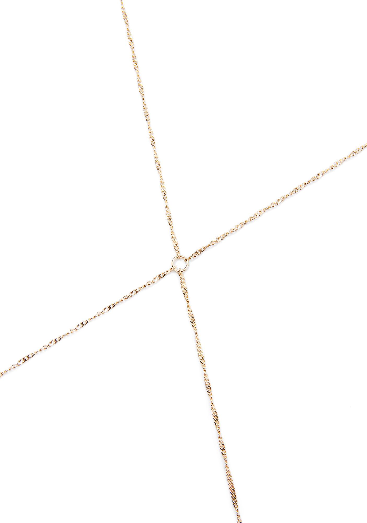 Pretty Little Thing Gold Bodychain