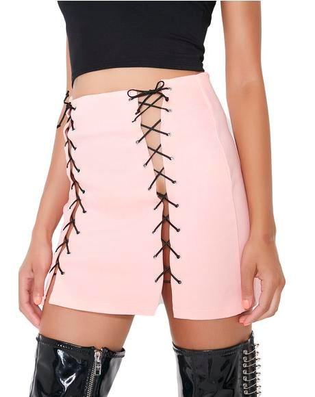 Xtina Lace-Up Skirt