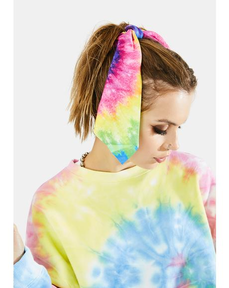 Peace Out Tie Dye Scrunchie