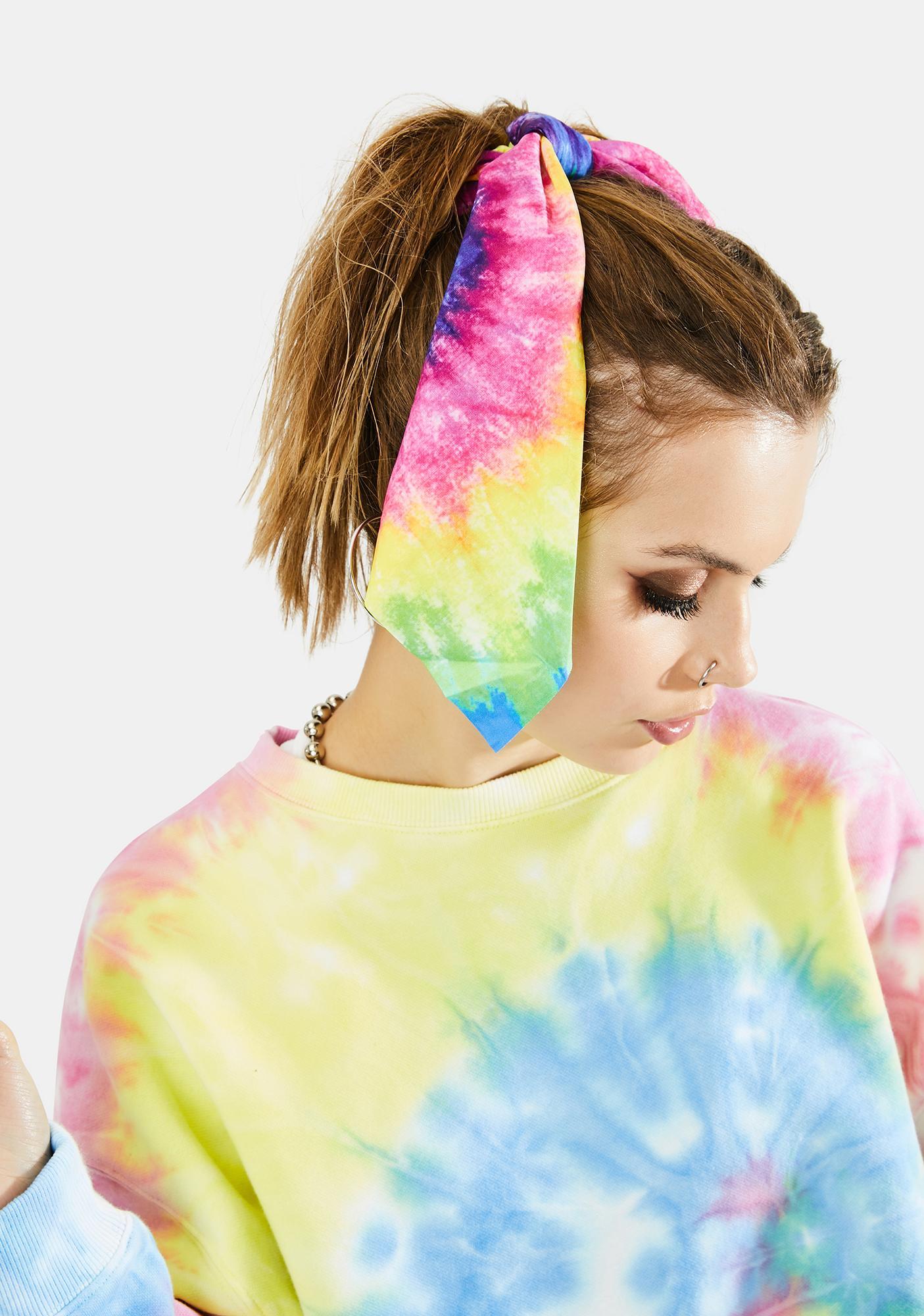 Peace Out Tie Dye Scrunchie