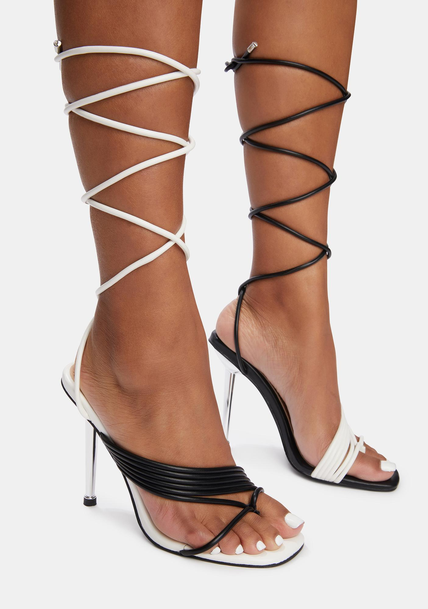 AZALEA WANG Laker Wrap Stiletto Sandals