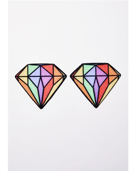 Rainbow Diamond Pasties