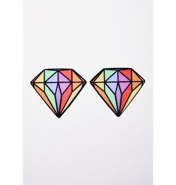 Pastease Rainbow Diamond Pasties