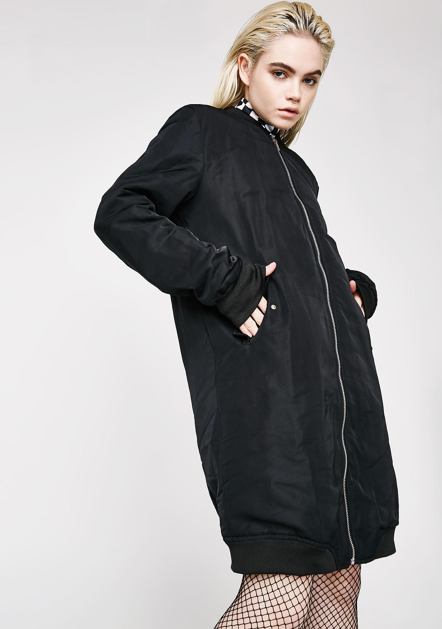 Dark Way Up Bomber Coat