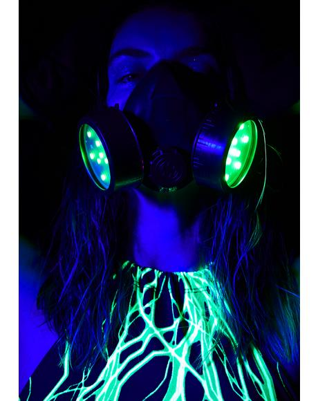 Digital Demon Light Up Gas Mask