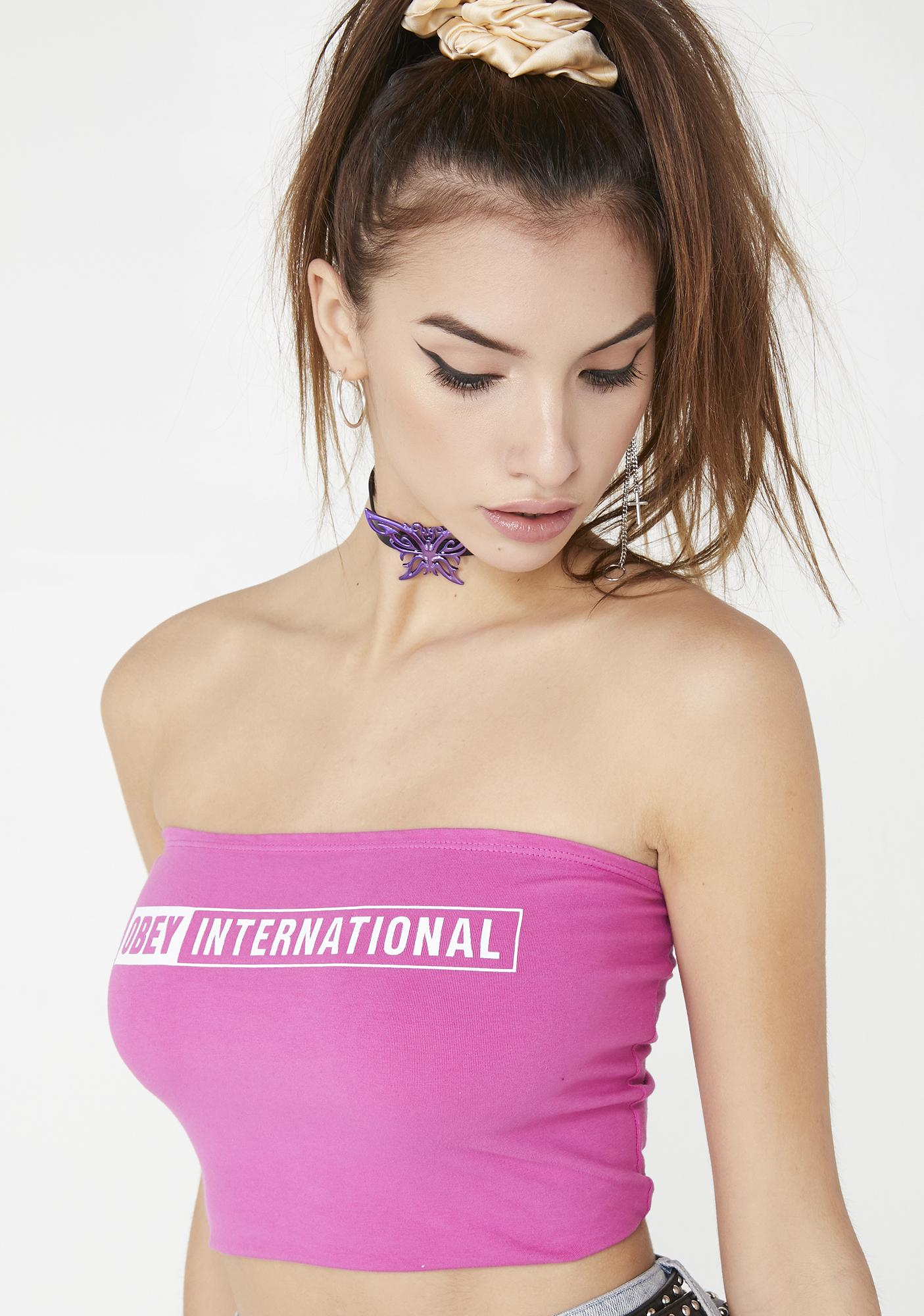 Obey OBEY International 2 Tube Top
