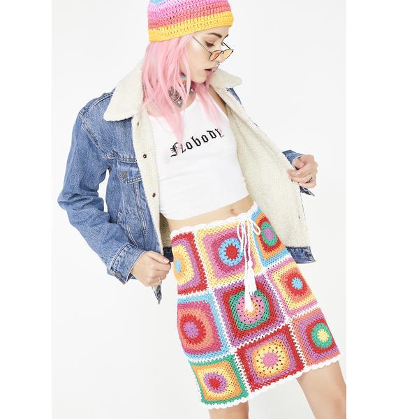 Fluffy Groovy Granny Skirt