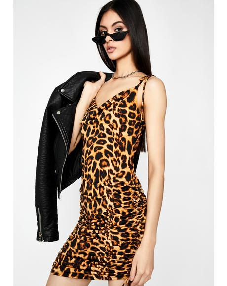 Feisty Demon Leopard Dress