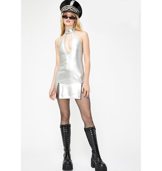 Current Mood Stellar Star Choker Mini Dress