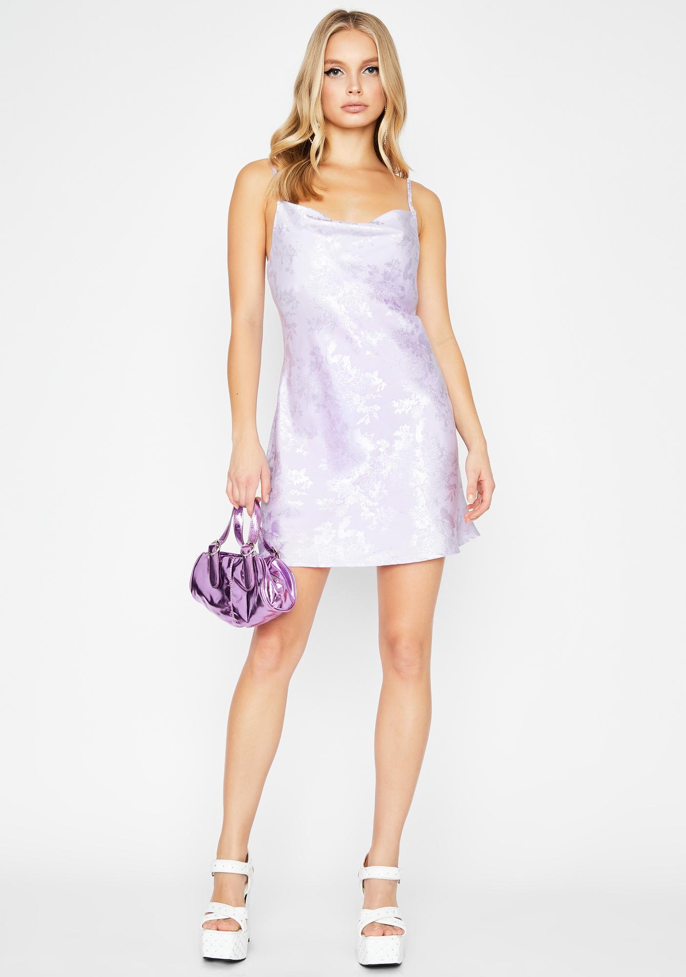 Grape Thatz Bae Floral Dress