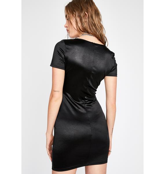 Diabolical Hot Flash Satin Dress