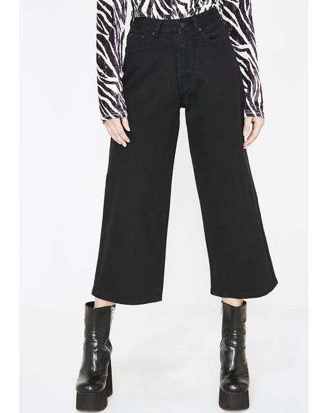 LO Black Wide Leg Jeans