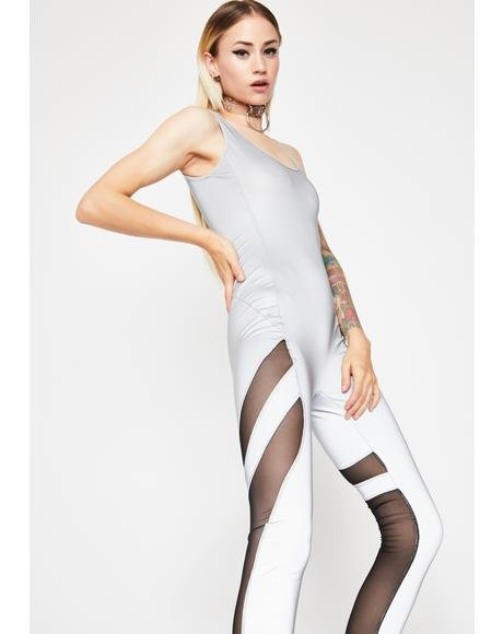 Space Babe Reflective Catsuit