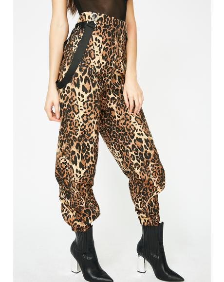 Baddie Babe Leopard Overalls