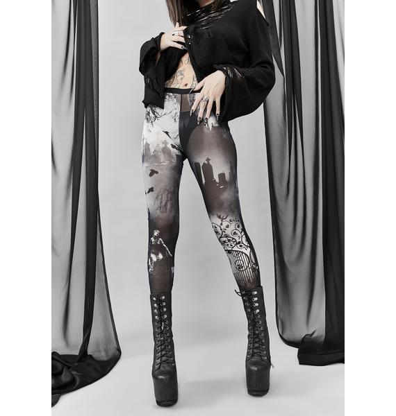Widow Ghouls Night Out Mesh Leggings