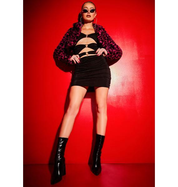 Poster Grl Night Ripe 'N Ready Cutout Ruched Mini Dress
