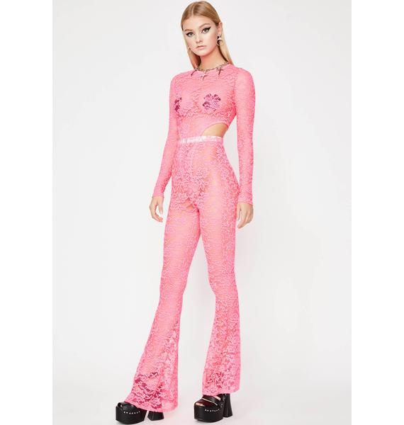 Candy Hawt Damn Lace Jumpsuit