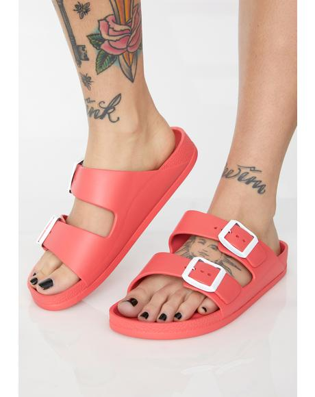 Spicy Sleek Freak Buckle Sandals