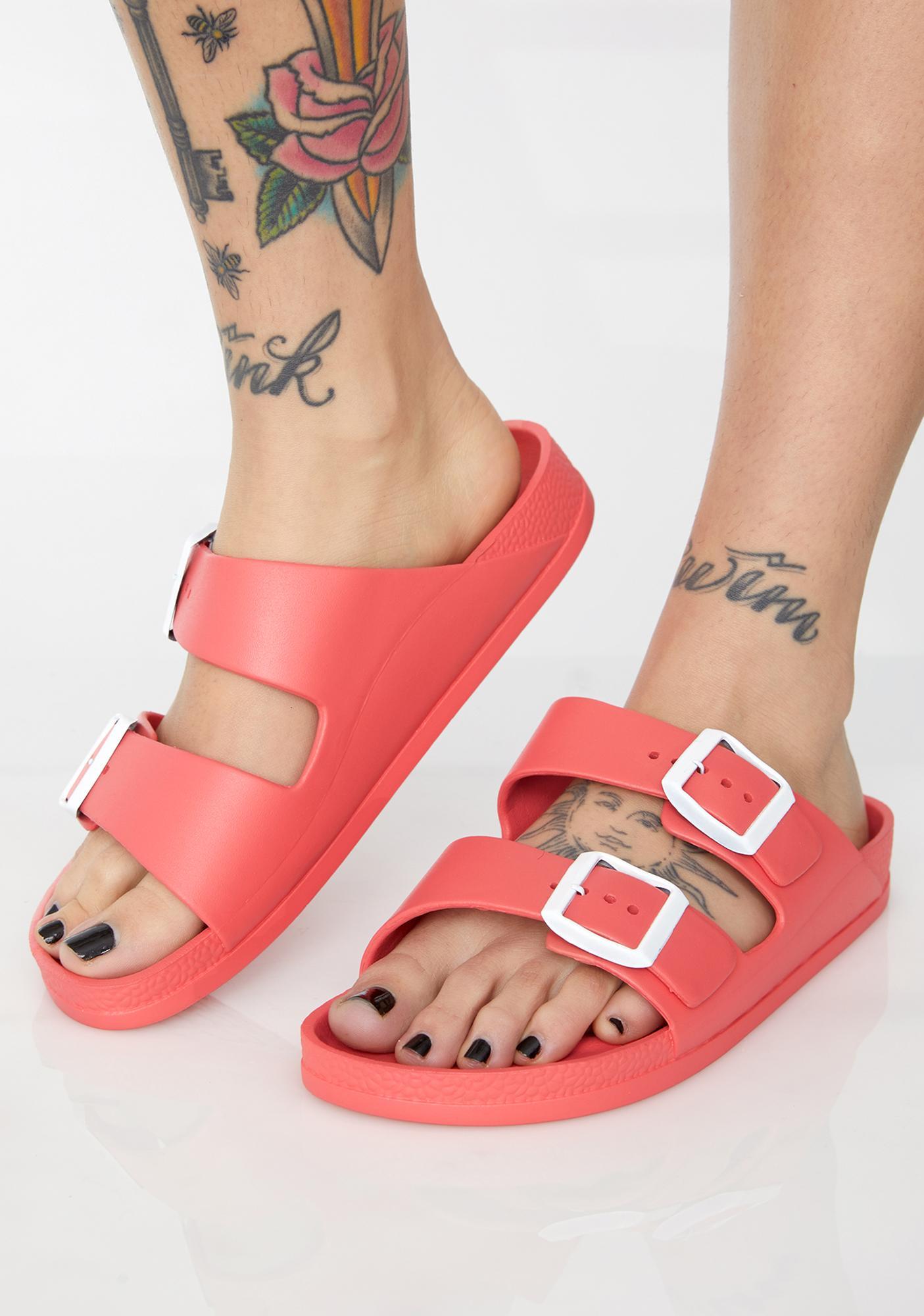 Spicy Sleek Freak Buckle Sandals