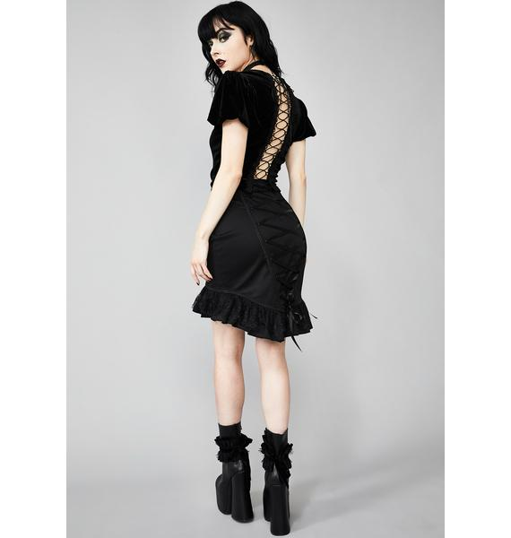 Widow Dark Exodus Lace-Up Skirt