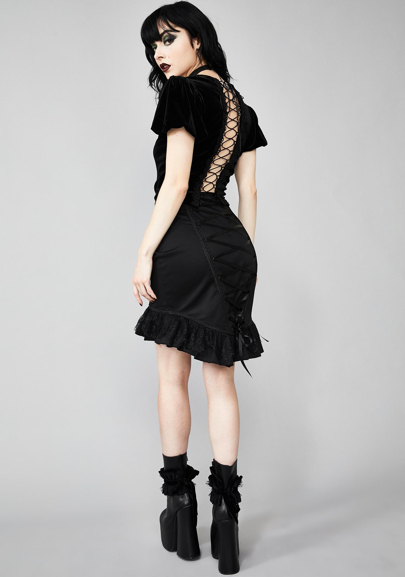 Widow Dark Exodus Lace-Up Skirt