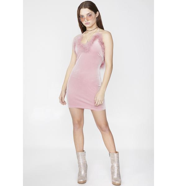 ManEater Princess Di Fur Lined Dress