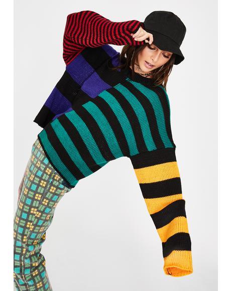 Riot Striped Knit Sweater