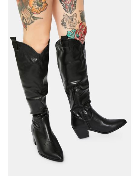 Jayne Knee High Cowboy Boots