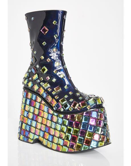 Tetradisko Platform Gem Boots