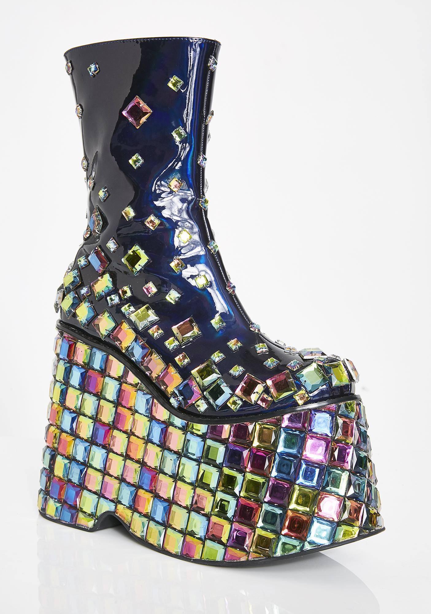 Club Exx Tetradisko Platform Gem Boots