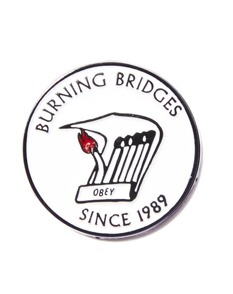 Burning Bridges Pin