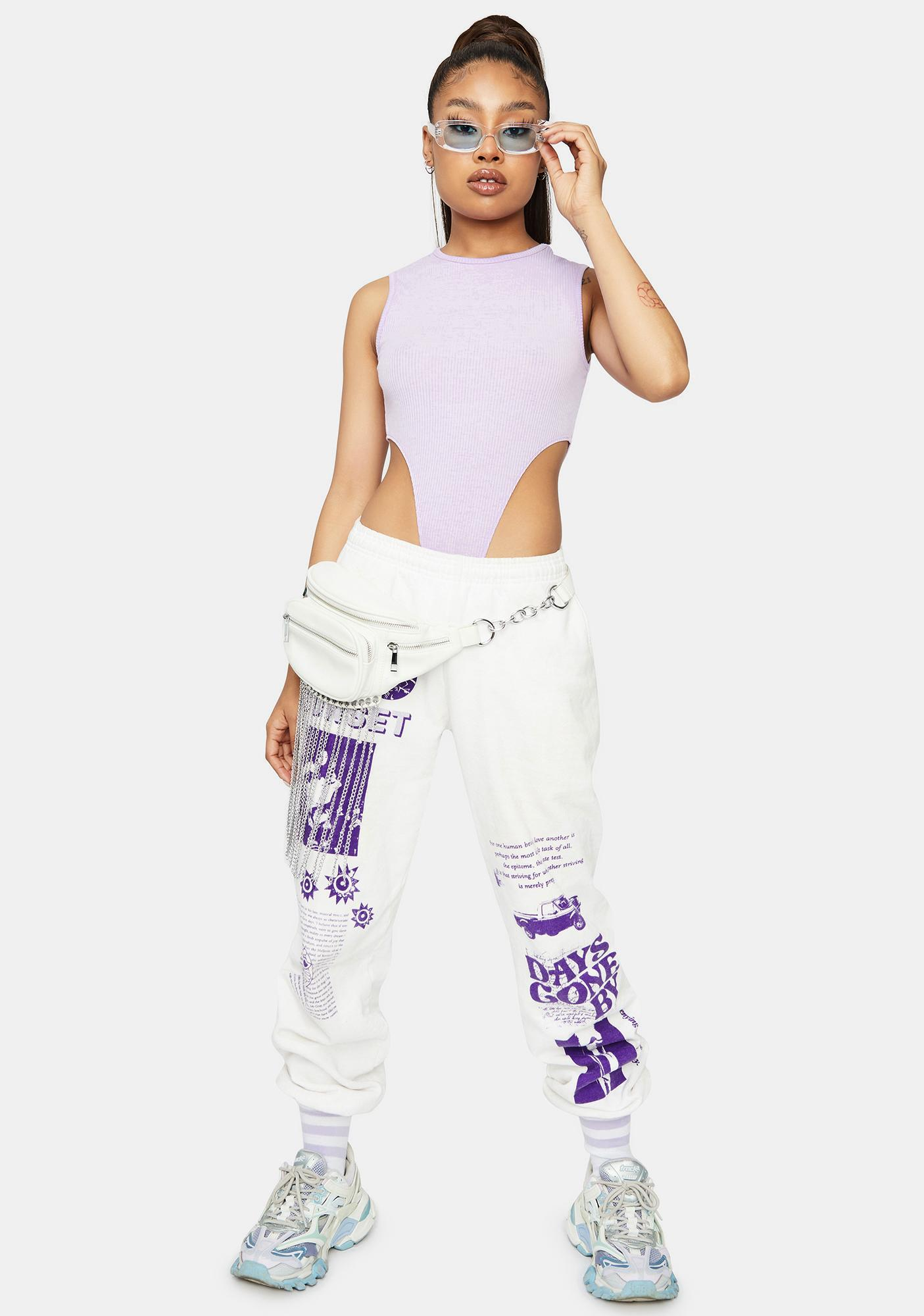Lavender Rated R High Rise Bodysuit