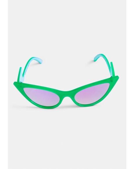 Slime Stop The Presses Cat Eye Sunglasses