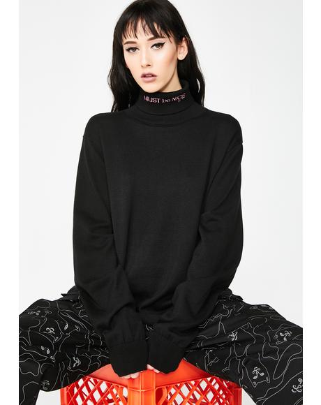 Dark Must Be Nice Turtleneck