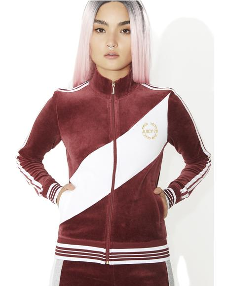 Sporty Heritage Velour Track Jacket
