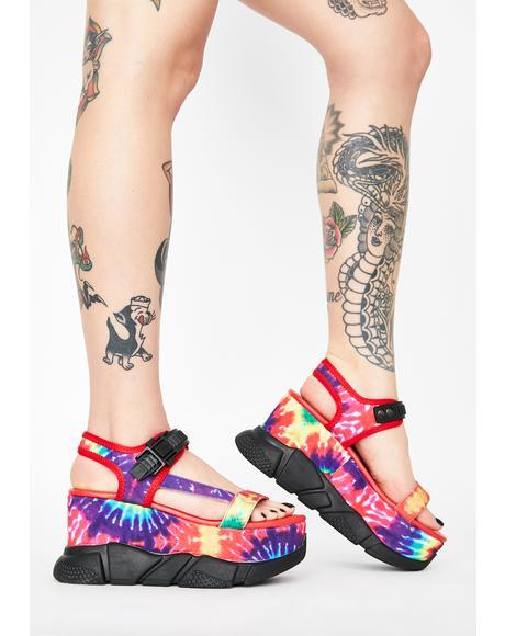Freaky Fury Platform Sandals