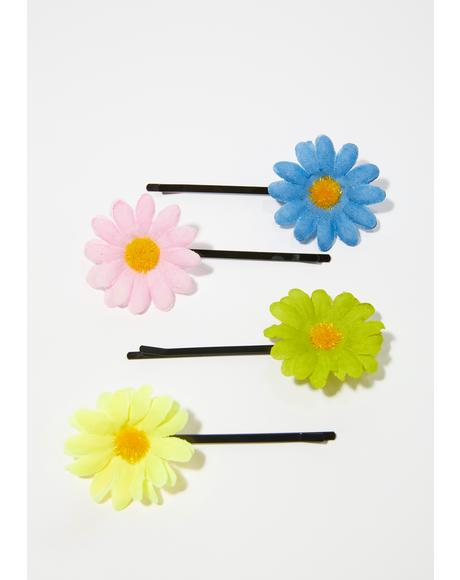 Magical Frolic Flower Hair Clips