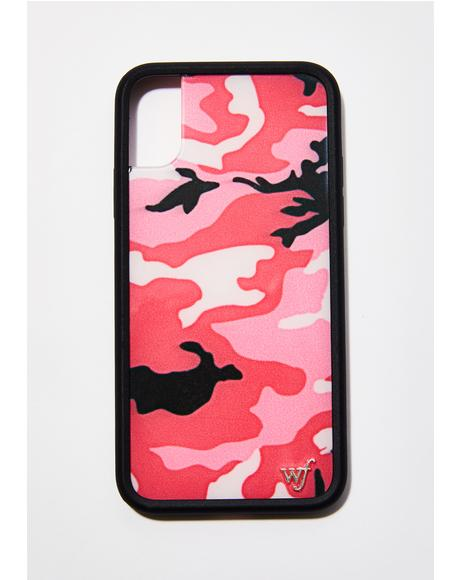 Pink Camo IPhone X Case