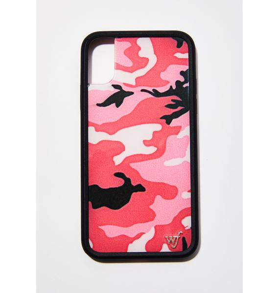 Wildflower Pink Camo IPhone X Case