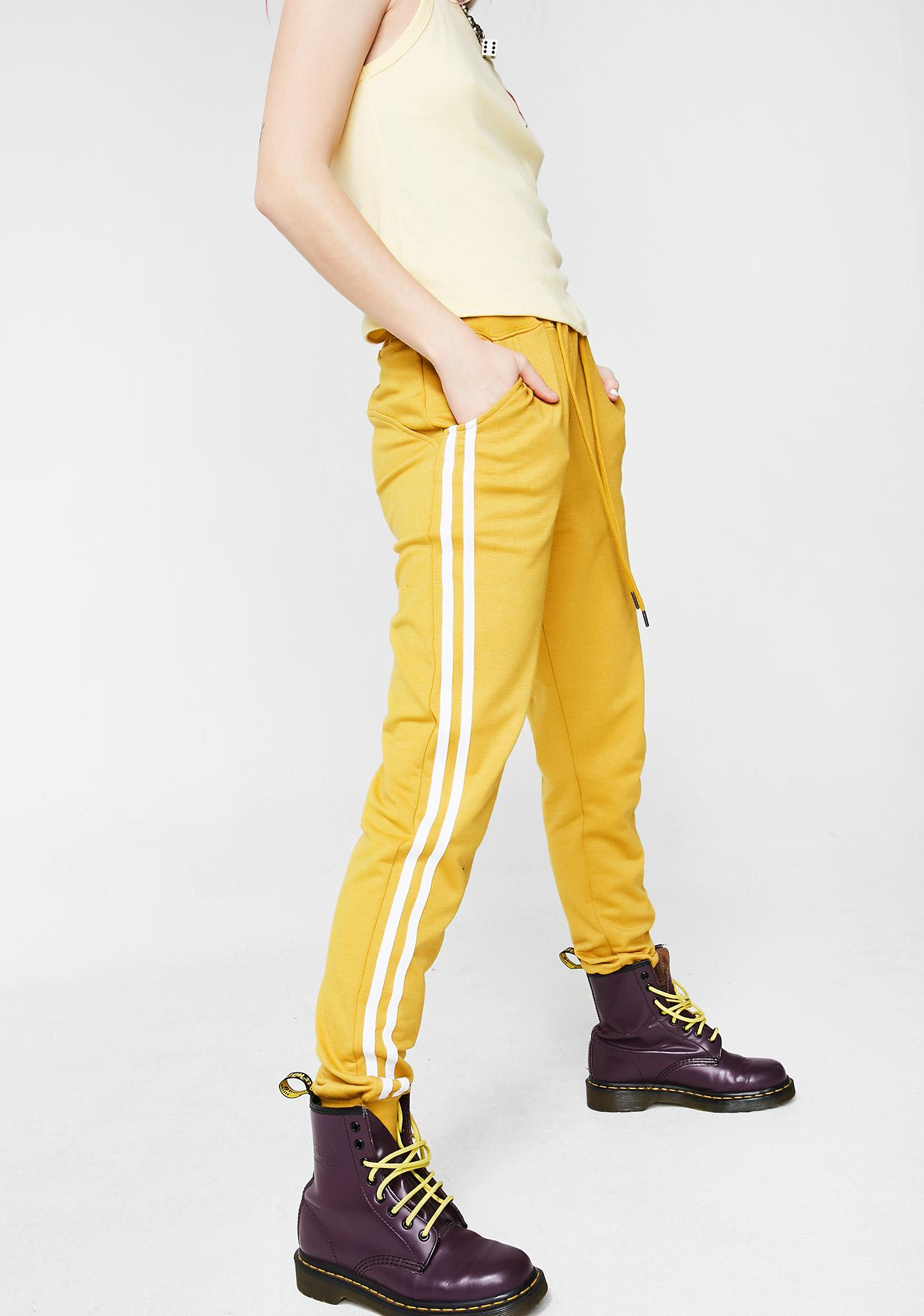 Sunny Game Time Striped Sweatpants