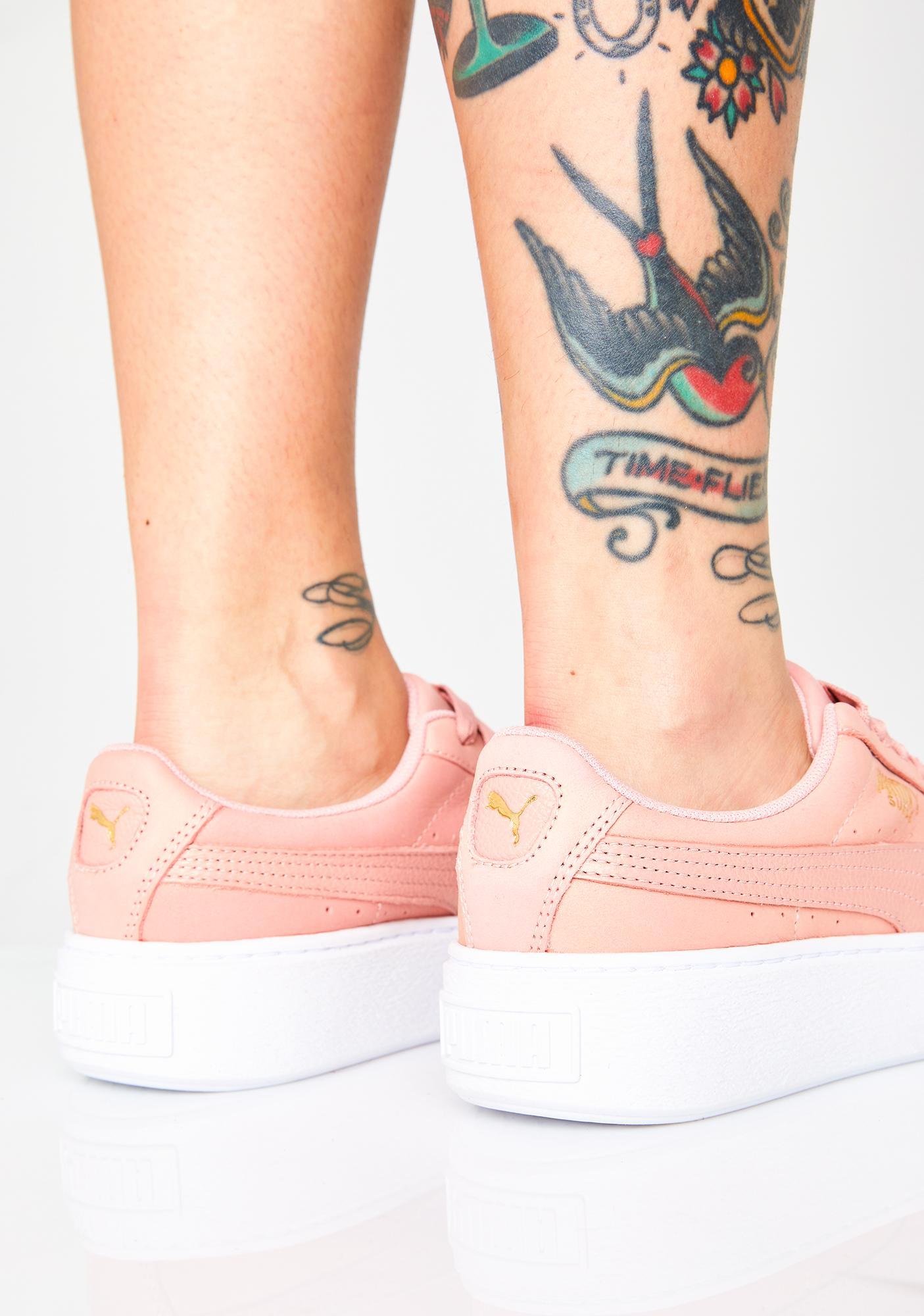 PUMA Platform Shimmer Sneakers