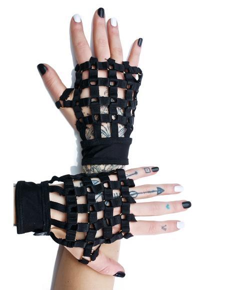 Caged In Fingerless Gloves