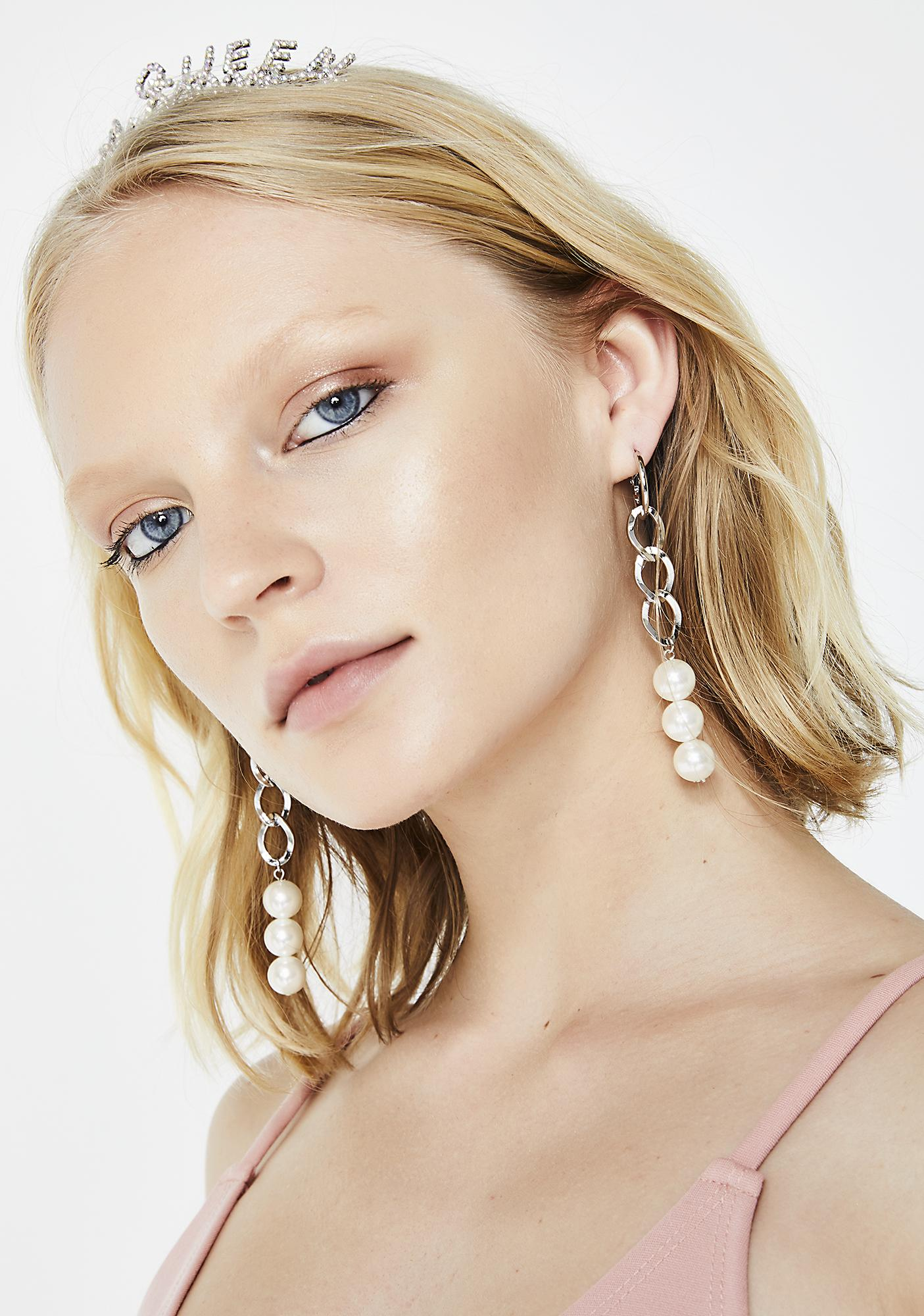 For The Record Chain Earrings