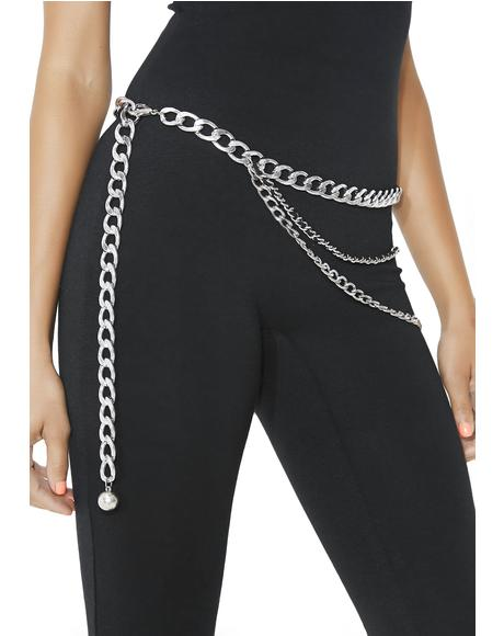 Drape Shape Chain Belt