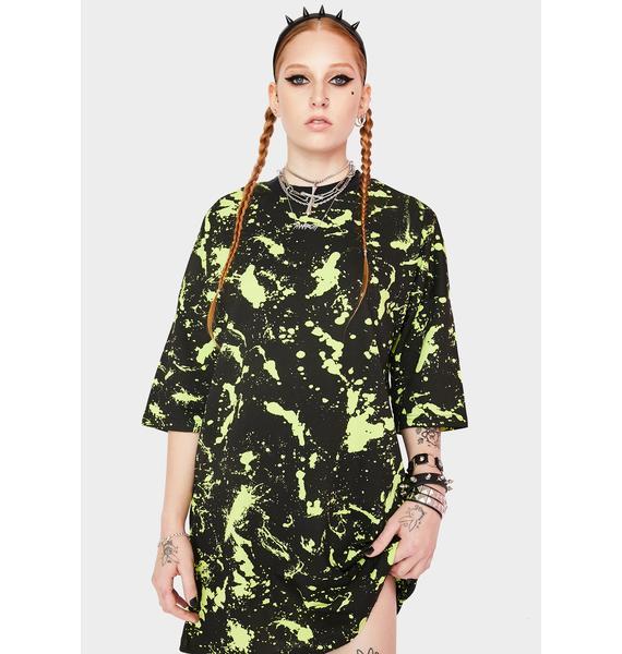 The Ragged Priest Paint Splatter Graphic Tee Dress